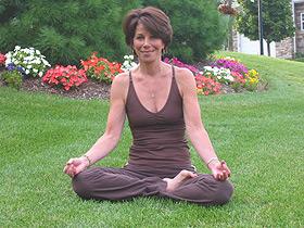 Toni in lotus posture